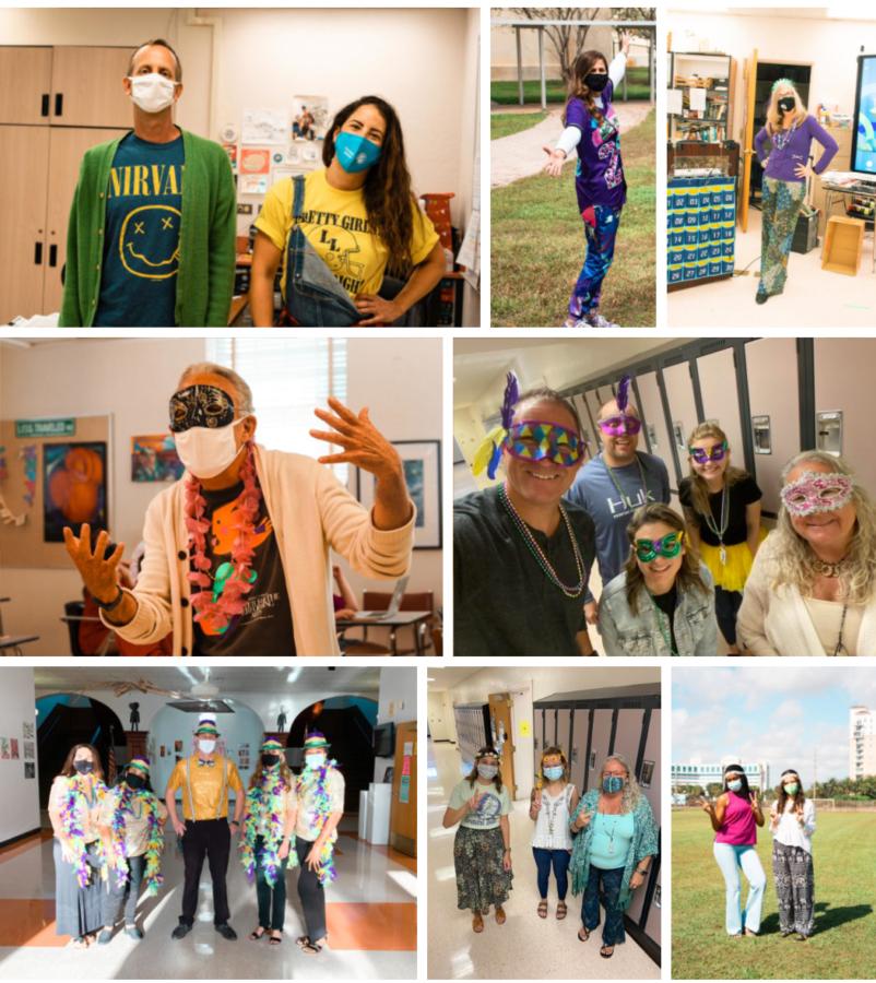 Teachers Celebrate Spirit Week